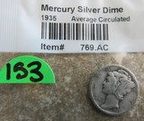 1935 Mercury Silver Dime