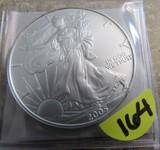 2005 1oz Fine American Eagle Silver Dollar