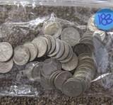 45 Various Silver Dimes