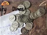 29 Mercury Dimes