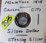 1878 Miniature Carson City  Silver Dollar