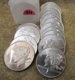 (20) Peace Dollar Rounds