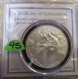 2012 United States of America 1oz Fine Silver One Dollar