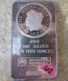 10oz Troy Fine Silver