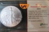 2004 Silver American Eagle One Dollar