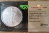 2006 Silver American Eagle One Dollar