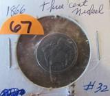 1866 Three Cent