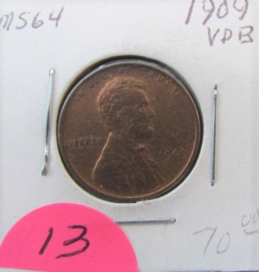 1909 VDB Lincoln Cent MS64