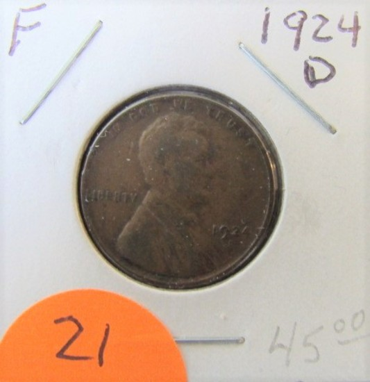 1924-D Lincoln Cent F