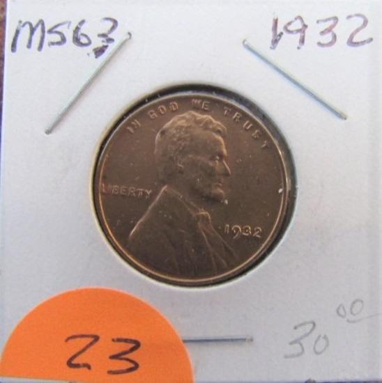 1932  Lincoln Cent MS63