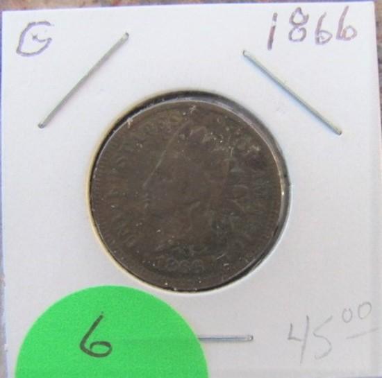 1866 Indian Head Cent-Good