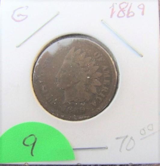 1869 Indian Head Cent-Good
