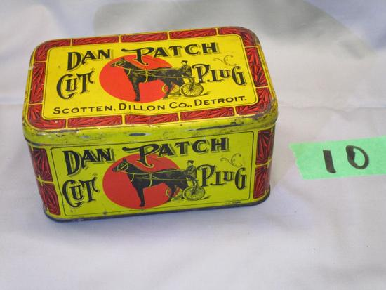 Rare Dan Patch Cut Plug Tobacco Tin
