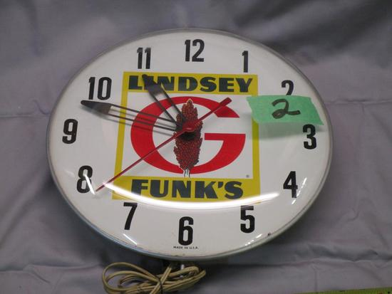 Rare Funk's Seeds Electric Clock, no working