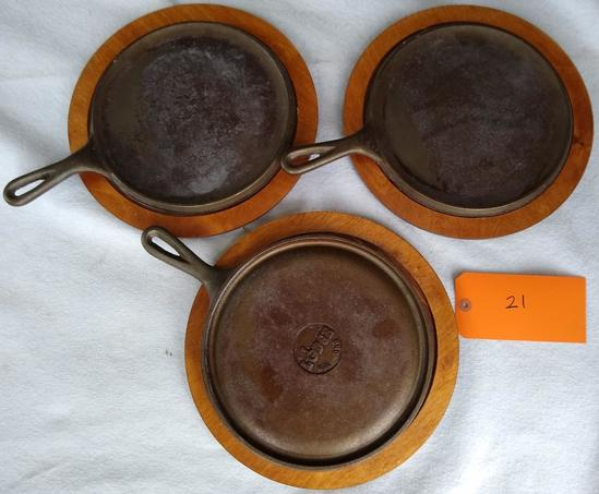 Set of 3 Lodge Skillet/Griddle
