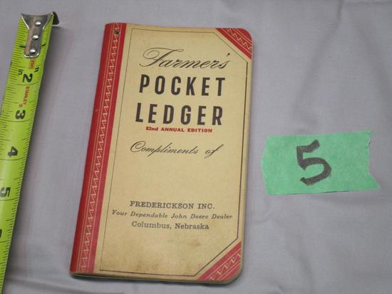 1948/49 John Deere Pocket Ledger