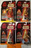 1998 4 Star Wars Figures on Card