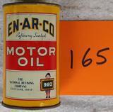 En-Ar-Co Motoroil Tin Can Bank