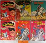 6 1950's Lone Ranger Coloring Books