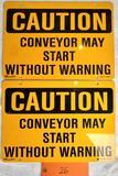 2 Conveyor Signs