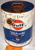 Gulf Oil 5 Gal. Can