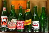 6 Vintage Pop Bottles