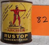 Archer Oil Rustop Tin