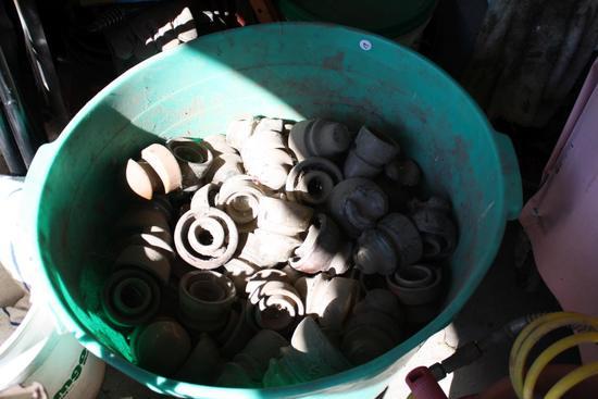 Tub of Antique Insulators