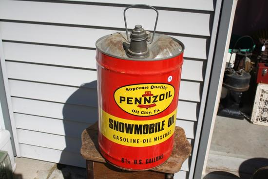 Rare Size Pennzoil Snowmobile Can