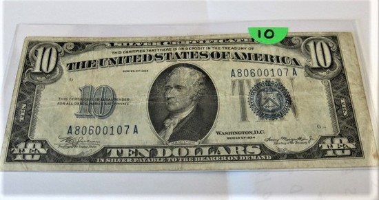 1934 $10 Silver Certificate