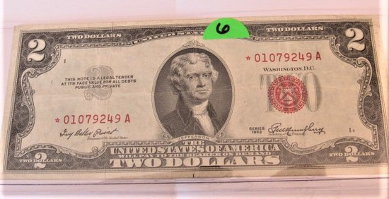 1953 $2 Star Note