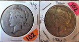(2) 1926-S, 1926-D Peace Dollars
