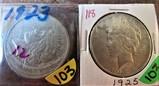 (2) 1923, 1925 Peace Dollars