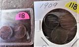 3-1909, 1973-S, 1975-D Cents