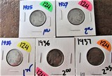 1925, 27, 34, 36, 37 Buffalo Nickels