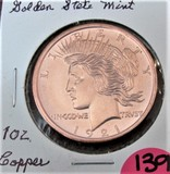 1921 Golden State Mint 1oz Copper