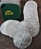 (20) 2007 BU American Eagle Dollars