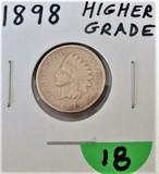 1898 High Grade Indian Cent