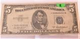 1953 A Star Note $5 Silver Certificate