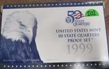 1999 US Mint 50 State Quarters Proof Set