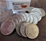(20)1921 Circulated Morgan Dollars