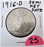 1916-D Semi Key Date Half Dollar