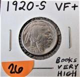 1920-S VF+ Buffalo Nickel