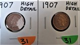 1907, 1907 High Detail Indian Cents