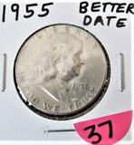 1955 Better Date Franklin Half
