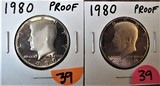 1980, 1980 Proof Half Dollars