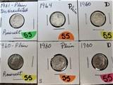 (2) 1960,  60-D, 60-D, 61, 64 Dimes
