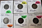 1896, 1900 Indian Cents, 1941 Nickel, 1946, 43, 62 Lincoln  Cents