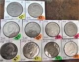 1971-D, 71-D, (5) 1972, (3) 1974-D Ikes