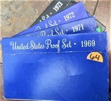 1969, 71, 72, 73 United States Proof Sets